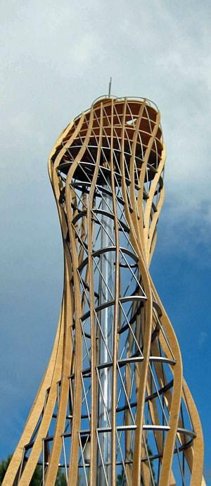 Der Holzturm soll 80 Meter hoch werden.
