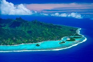 Das Paradies liegt nun inmitten einer riesigen Schutzzone.-> Hinweis: Blogger Erich E. beim Tauchen in Aitutaki.