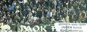 Antisemitismus von Paok-Fans während eines Spiels der Mannschaft vergangenen Winter in Griechenland.