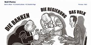 """""""Banker""""-Karikatur auf Straches Facebook-Seite."""