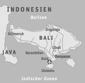 Anreise & UnterkunftSingapore Airlines etwa steuert Balis Flughafen Denpasar über München oder Frankfurt mit einem Zwischenstopp in Singapur an. Packages wie das für Uluwatu angeführte schnürt zum Beispiel Bawa Tours & Travel. Die Agentur mit Sitz in Memmingen/Bayern organisierte auch die Presse-Tour durch die genannten vier Designhotels auf Bali.