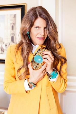 Anna dello Russo mit ihren H&M-Klunkern.