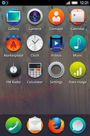 Der aktuellste Stand des User Interfaces von Firefox OS.