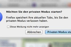 Firefox 15 weist einen Fehler im privaten Modus auf.