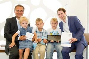 Georg Obermeier (li) und Sebastian Kurz (re) wollen mit einer Kooperation die Iniatiative vorantreiben