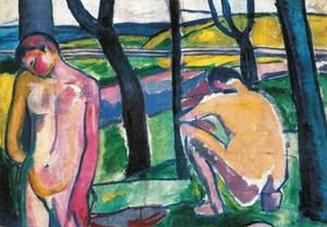 """Béla Czóbels   """"Nackte Knaben"""" entstand 1906/07 noch sehr unmittelbar unter dem Eindruck der Fauves."""
