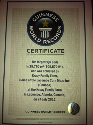 Die von Guinness ausgestellte Urkunde.