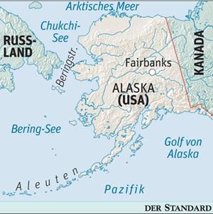 Die Bohrungen finden in der Tschuktschensee (auch Chukchi-See genannt) statt.