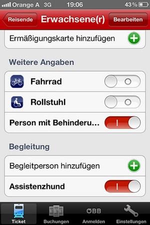 Assistenzhund, Fahrrad, Rollstuhl: Die Auswahlmöglichkeiten gefallen den Usern.