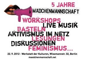 Fünf Jahre feministischer Netzaktivismus muss gefeiert werden: Am 22. September gibt es in Berlin Gelegenheit dazu.