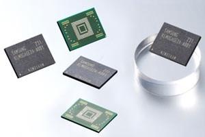 Die neuen Speicherbausteine von Samsung.