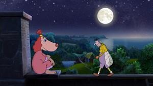 """Mondsüchtiges Hundemädchen: """"Lotte und das Geheimnis der Mondsteine""""."""