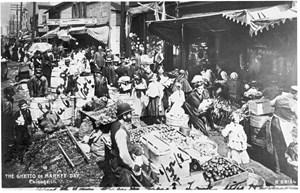 Markttag im Chicagoer Ghetto.