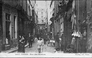 Die Rue des Rosiers im Marais, einem Zentrum jüdischen Lebens in Paris.