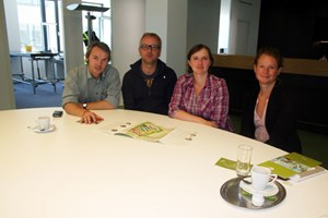 """Das 18-köpfige Team der """"Wien 3420 Aspern Development AG"""" hat (im Bild v. li.: Kurt Hofstetter, Josef Lueger, Claudia Nutz, Katharina Salzgeber) in der vergangenen Woche ..."""
