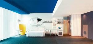 Zimmer im neuen Hotel Andaz in Amsterdam.