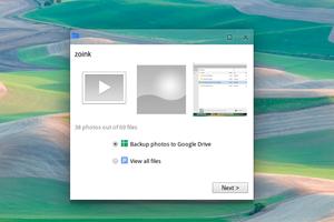 Beim Anstecken von externen Datenträgern wird der Upload auf Google Drive automatisch angeboten, wer will kann sich aber auch nur die Inhalte im Dateimanager anzeigen lassen.