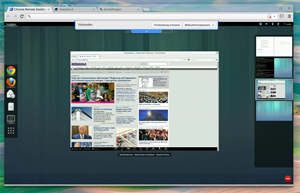 Es gibt einen eigenen Remote Desktop Client, mit dem aus dem Browser heraus auf andere Systeme zugegriffen werden kann - sehr nützlich und funktioniert auch tadellos.