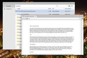 Ebenfalls mit dabei ist eine App um Dateien in Microsofts Office-Formaten anzuzeigen - was auch offline funktioniert.