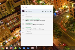 Ein kleiner Blick in die Zukunft: Derzeit in Entwicklung ist die Integration von Google Kontakten in die Suchfunktion von Chrome OS. Die entsprechende Funktionalität verbirgt sich hinter einer Einstellung im experimentellen Bereich chrome://flags und ist derzeit noch nicht voll funktionstüchtig.