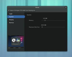 Beim Virtualisierungstool GNOME Boxes können diverse Eckpunkte des Systems nun schon vor dem ersten Start festgelegt werden.