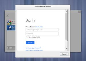 Das Online-Accounts-Tool bietet nun die Möglichkeit Exchange-Accounts zentral für den gesamten Desktop einzurichten. Zudem können jetzt bei Microsofts Skydrive abgelagerte Dokumente in GNOME Documents eingebunden werden.