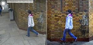 """Links die Street-View-Ansicht, rechts Cirios """"Street Ghost""""."""