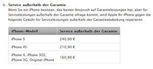 ... doch die Serviceleistung durch Apple kostet mehr.
