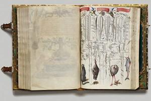 Faszinierende Symbiose aus Kalligrafie und Miniaturmalerei: Ed Ruscha meint, beim Betrachten dieser Wiener Schrift von Georg Bocskay (1571-73) Violinenmusik zu vernehmen.