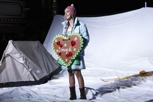 """Die Orientierungslosigkeit einer ganzen Generation wird vor Augen geführt: Agnes Hausmann in der """"Winterreise"""" am Klagenfurter Stadttheater."""