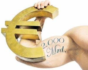 Die EU will Muskeln zeigen und den Rettungsschirm möglichst weit aufspannen. In der Theorie sind bis zu 2000 Milliarden Euro möglich.