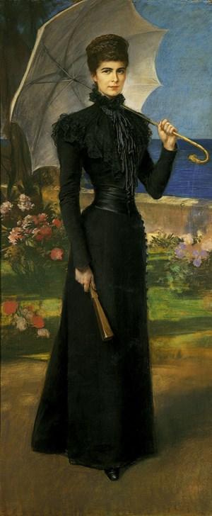 Kaiserin Elisabeth auf Korfu, Gemälde von Friedrich August Kaulbach, 1899
