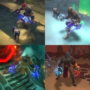 Die Evolution eines Helden im Verlaufe des Spiels.