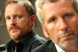 Roger Willemsen und Michael Niavarani waren Dienstag zu Gast bei Grisse- und Stermann (Bild).