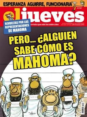 Eine neue Mohammed-Karikatur aus Spanien.
