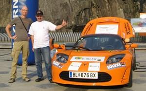 Manfred Hillinger mit Co-Pilot Andreas Ranft.