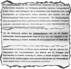 Die Auflagen für die Betreiberin der Sonderanstalt für mutmaßlich straffällige Asylwerber.