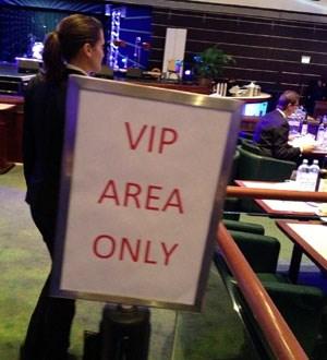 Auch eine exklusive Vip-Zone ist eingerichtet worden.