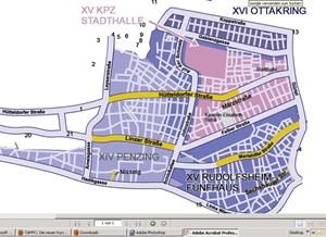 Seit die neue Parkraumregelung gilt, wird in Einkaufsstraßen verstärkt kontrolliert. Hier als Beispiel jene im 15. Bezirk, die in Gelb gehalten sind - mehr Grafiken auf oeamtc.at.