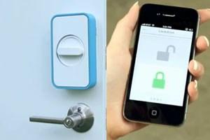 Mit Lockitron kann die Haustüre mit dem iPhone oder Android-Smartphone aufgesperrt werden.
