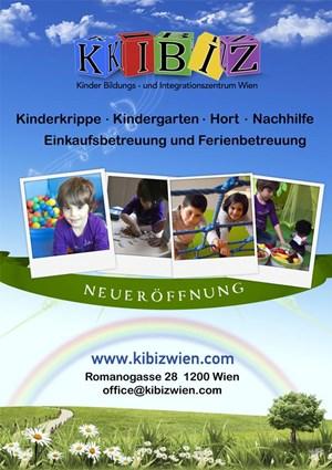 Das Eröffnungsplakat von Kibiz.