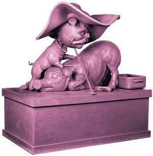 """Humoriges von Paul McCarthy: """"Piggies"""" (2006) soll für zumindest 600. 000 Pfund einen Käufer finden."""