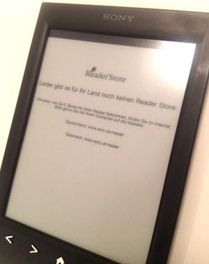 Der Reader Store funktioniert in Österreich nicht