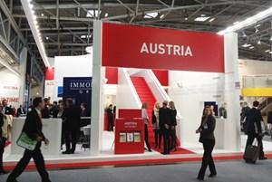 """... und der Gemeinschaftsstand """"Austria"""" auf der heurigen Expo Real."""