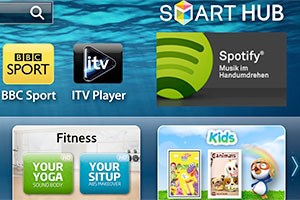 Spotify startet auf Samsungs Smart TVs.