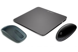 Touchpad T650, Touch Mouse T620 (vorne rechts) und Zone Touch Mouse T400.