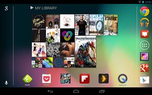 Mit Android 4.1.2 wird dem Nexus-7-Launcher eine Queransicht beigebracht.