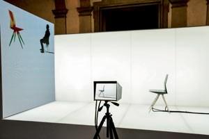 Mittels Wärmebildkameras liefern Probesitzer Daten zur Optimierung des Möbels, was Material und Formgebung betrifft.