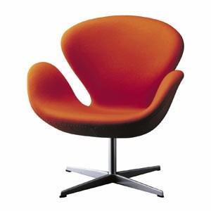 """Der """"Schwan"""" von Arne Jacobsen, den er 1958 für die Lobby und Lounge des Royal Hotel in Kopenhagen entwarf."""