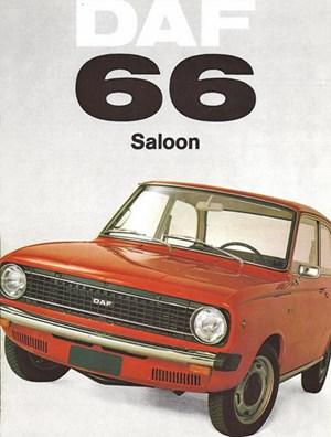 Dezentes Fahrzeug, verhaltene Werbung: Der DAF 66 in seiner ganzen Pracht.